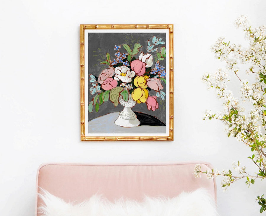 From a Table in Mount Vernon floral still life art print by Jennifer Allevato Fine Art