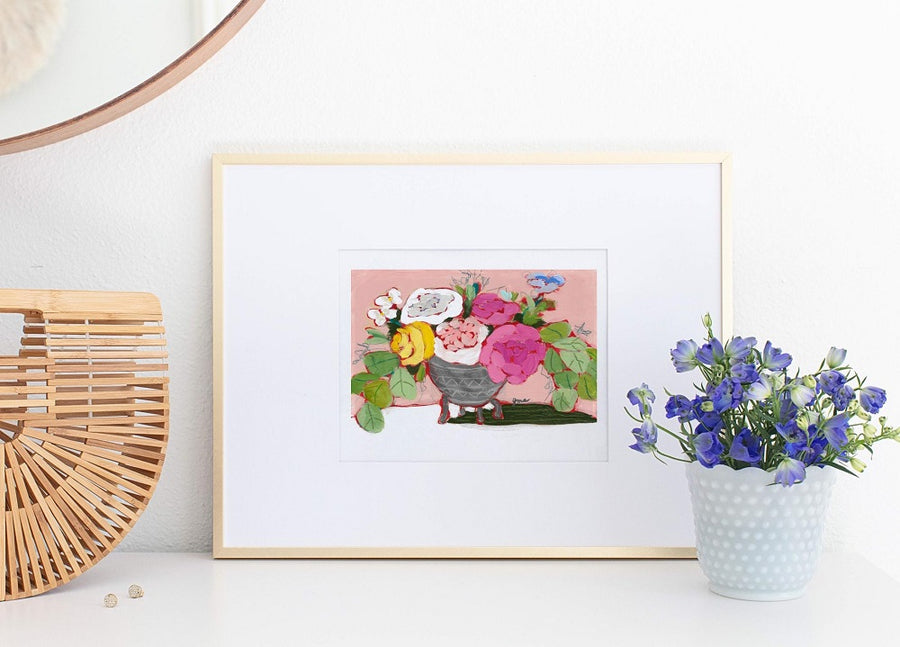 From a Table in Strawberry Hill floral still life art print by Jennifer Allevato Fine Art