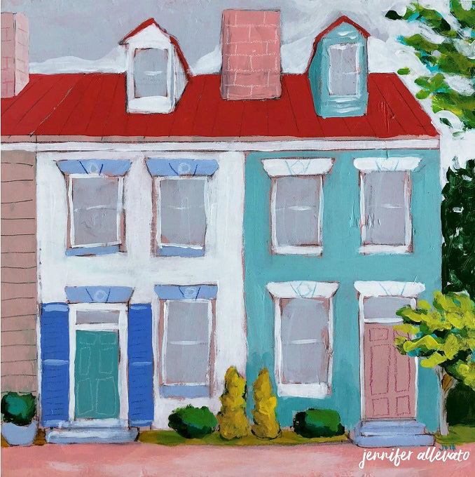 Happy Home painting by Jennifer Allevato