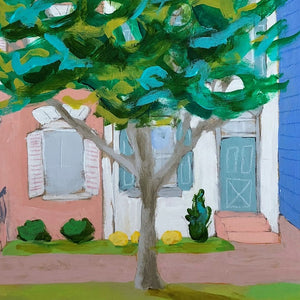 Letters from home house scape painting by Jennifer Allevato art
