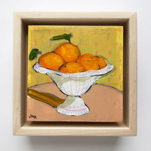 "Orange You Glad 5, 4""x4"" Painting (framed)"