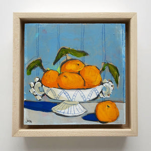 "Orange You Glad 7, 5""x5"" Painting (framed)"