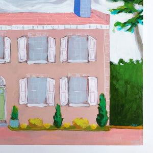 Pictures of home house-scape painting by Jennifer Allevato art