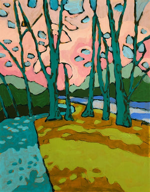 Potomac River Views 7 painting by Jennifer Allevato Fine Art