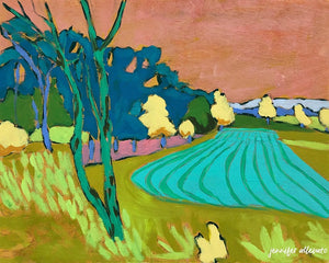 Rural Pennsylvania Farm landscape painting by Jennifer Allevato