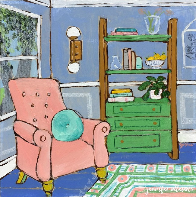 Seated 17 interior painting by Jennifer Allevato
