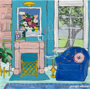 Seated 24 interior still life painting by Jennifer Allevato