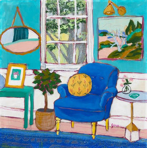 seated 28 painting by jennifer allevato fine art