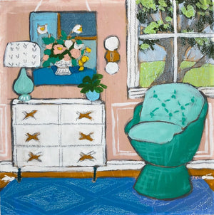 Seated 33 interior painting by jennifer allevato fine art