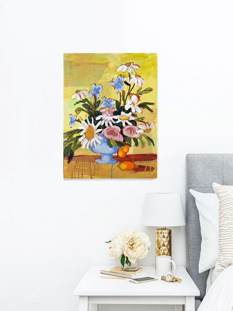Small Things Brought Together floral painting by Jennifer Allevato