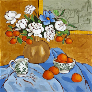 Still Life with Oranges painting by Jennifer Allevato fine art