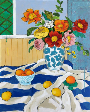 Still life with poppies painting by Jennifer Allevato fine art