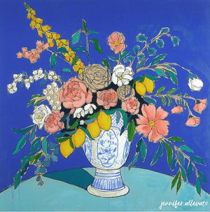 From a Table in Giverny floral painting by Jennifer Allevato