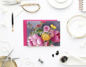 floral thank you card set by Jennifer Allevato