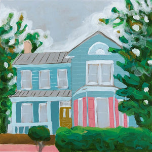 That's What I call Home house scape painting by Jennifer Allevato art