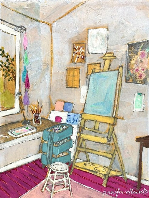 "The Artist's Studio II, 9""x12"""