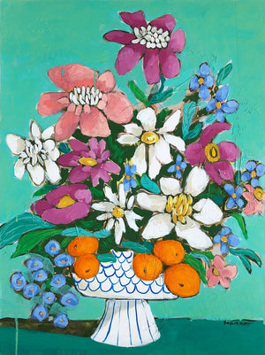 The Perfect Day floral still life painting by Jennifer Allevato fine art