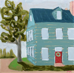 Theres No Place Like Home local house-scape painting by Jennifer Allevato