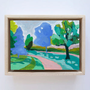 "The Winding Road 1, 5""x7"" Painting (framed)"
