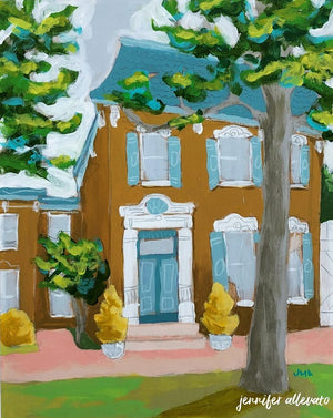 Welcome Home house-scape painting by Jennifer Allevato