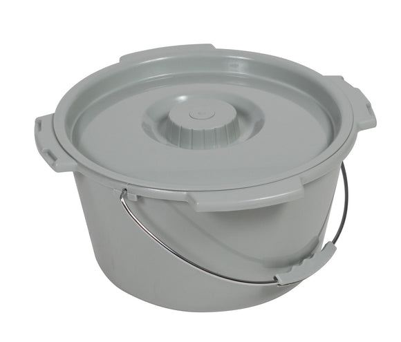 Drive Commode Pail With Lid 7.5 Qt Drive Commode Pail With Lid 7.5 Qt Commode Parts Drive Medical - Americare Medical Supply