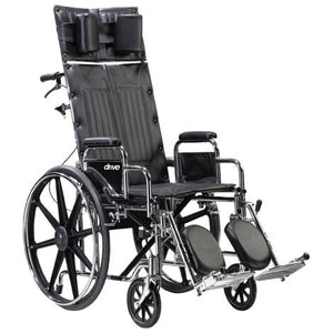 Drive Deluxe Sentra Full Reclining Wheelchair Drive Deluxe Sentra Full Reclining Wheelchair Reclining Wheelchair Drive - Americare Medical Supply