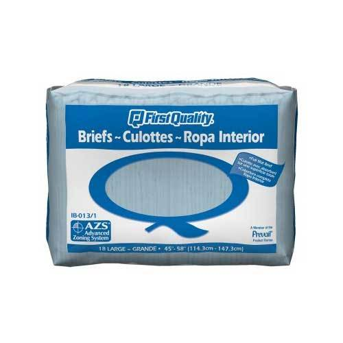First Quality Tab Closure Incontinent Briefs - Moderate Absorbency First Quality Tab Closure Incontinent Briefs - Moderate Absorbency Fitted Tab Briefs First Quality - Americare Medical Supply