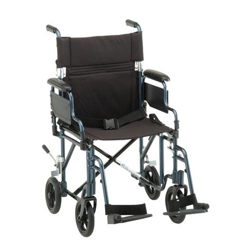 19 INCH TRANSPORT CHAIR WITH DETACHABLE ARM 19 INCH TRANSPORT CHAIR WITH DETACHABLE ARM transport wheelchair Nova - Americare Medical Supply