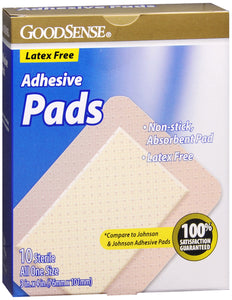 Good Sense Adhesive Pads Latex Free 10 Sterile Good Sense Adhesive Pads Latex Free 10 Sterile Adhesive Pads Good Sense - Americare Medical Supply