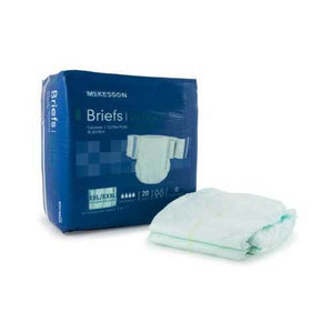 McKesson Ultra Plus Bariatric NonWoven Incontinent Brief - Heavy Absorbency McKesson Ultra Plus Bariatric NonWoven Incontinent Brief - Heavy Absorbency Fitted Tab Briefs McKesson - Americare Medical Supply