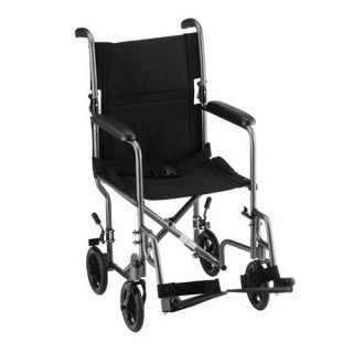 Nova Transport Chair 19 Inch Hammertone With Swingaway Footrests Nova Transport Chair 19 Inch Hammertone With Swingaway Footrests Transport Wheelchairs Nova - Americare Medical Supply