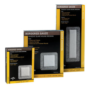 Medline Bordered Gauze Box 15 Medline Bordered Gauze Box 15 Gauze Medline - Americare Medical Supply