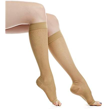 Sigvaris Open-Toe Sheer Fashion Hoisery Sock