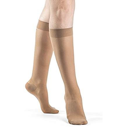 Sigvaris EverSheer Closed Toe Knee High Stockings 15-20Mmhg