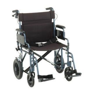 Nova Transport Chair - 22 Inch With Hand Brakes