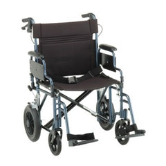 Nova TRANSPORT CHAIR- 22 INCH WITH HAND BRAKES