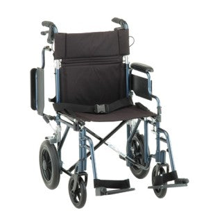 Nova Transport Chair 19 Inch Lightweight With Hand Brakes, Detachable Desk Arms, and Swingaway Footrests Nova Transport Chair 19 Inch Lightweight With Hand Brakes, Detachable Desk Arms, and Swingaway Footrests Lightweight transport chair Nova - Americare Medical Supply