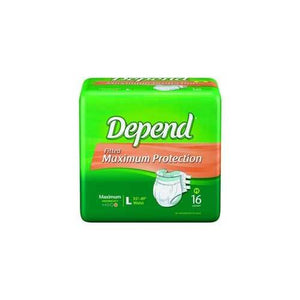 Depend Incontinent Brief - Heavy Absorbency Depend Incontinent Brief - Heavy Absorbency Fitted Tab Briefs Depend - Americare Medical Supply