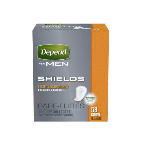 Depend Contoured Bladder Control Pads - Light Absorbency Depend Contoured Bladder Control Pads - Light Absorbency Guards & Shields For Men Depend - Americare Medical Supply