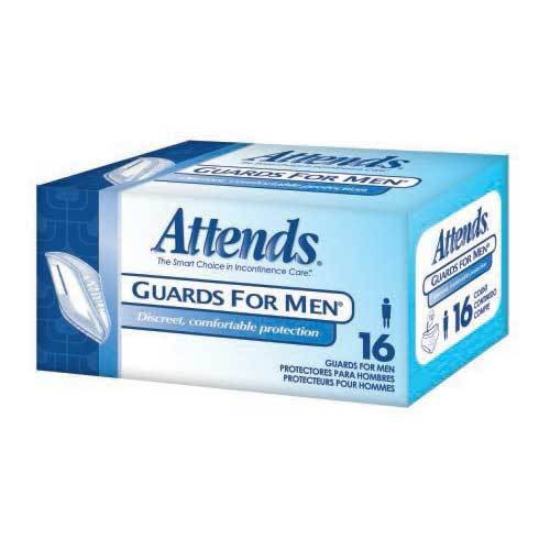 Attends Overnight Bladder Control Pads - Light Absorbency Attends Overnight Bladder Control Pads - Light Absorbency Guards & Shields For Men Attends - Americare Medical Supply