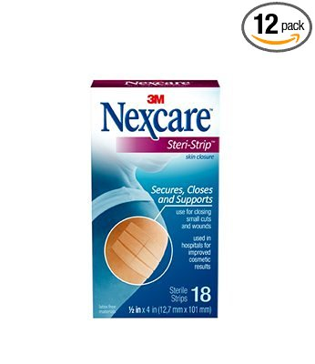 3M Nexcare Steri-Strip 18 strips 1/2inx 4in per box
