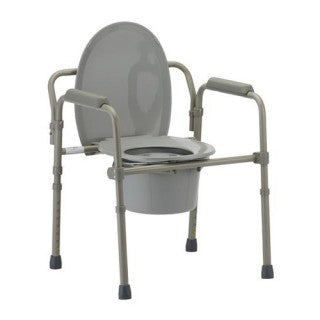 Nova 8700-R Folding Commode with Standard Seat Great for Travel