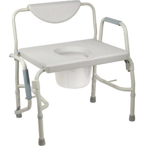 Drive Deluxe Bariatric Drop-Arm Commode Drive Deluxe Bariatric Drop-Arm Commode Commode Drive - Americare Medical Supply