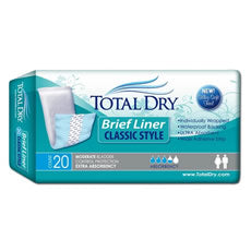 TOTAL DRY Brief Liner Classic Style Pack/20 TOTAL DRY Brief Liner Classic Style Pack/20 Bladder Pads TOTAL DRY - Americare Medical Supply