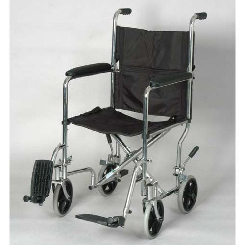 "Alex 19"" Transport Lightweight Foldable Wheelchair"