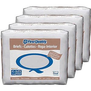 First Quality Briefs In Beige First Quality Briefs In Beige Adult Briefs First Quality - Americare Medical Supply