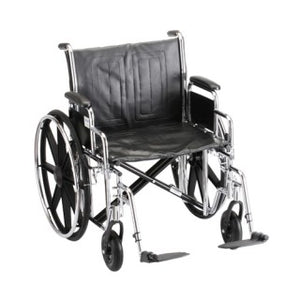 Nova Hammertone Wheelchair 24 Inch Steel With Detachable Arms & Elevating Leg Rests Nova Hammertone Wheelchair 24 Inch Steel With Detachable Arms & Elevating Leg Rests Wheelchairs Nova - Americare Medical Supply