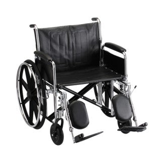 Nova Hammertone Wheelchair 24 Inch With Detachable Full Arms & Elevating Leg Rests