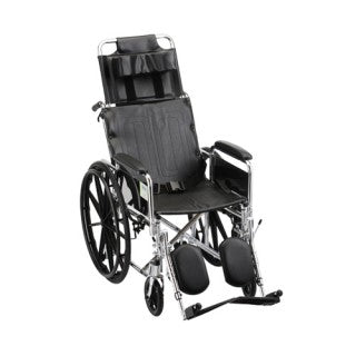 Nova Recliner Wheelchair 16 Inch With Full Arms & Elevating Leg Rests