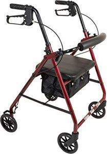 "ProBasics Aluminum Rollator Walker With Seat  6"" Wheels ProBasics Aluminum Rollator Walker With Seat  6"" Wheels Rollators PROBASICS - Americare Medical Supply"